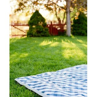 Little Unicorn Navy Gingham Outdoor Blanket