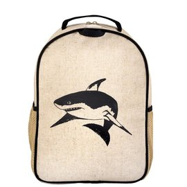 SoYoung Black Shark Raw Linen Toddler Backpack