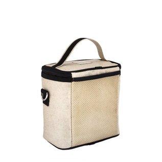 SoYoung Black Camera Raw Linen Large Cooler Bag