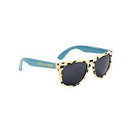 Little Blue House Bears on Natural Sunglasses