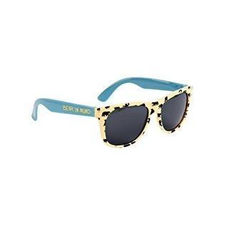 Little Blue House Bears on Natural Sunglasses