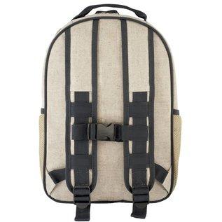 SoYoung Lucky Unicorn Raw Linen Gradeschool Backpack