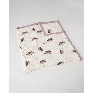 Little Unicorn Hedgehogs Muslin Cotton Big Kid Quilt