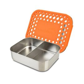 Lunchbots Orange Duo Stainless Bento Lunch Box