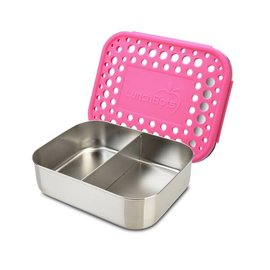 Lunchbots Pink Duo Stainless Bento Lunch Box
