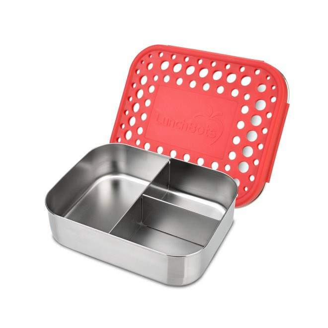 red trio 2 stainless bento lunch box sweetpea wholesome baby
