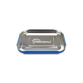Lunchbots Quad Royal Blue Stainless Bento Lunch Box