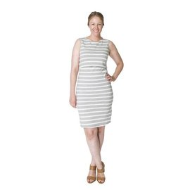 Momzelle Grey Nursing Dress, MEGAN