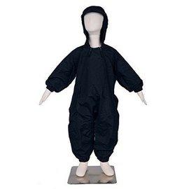 Black Splashy Breathable Nylon Rainsuit
