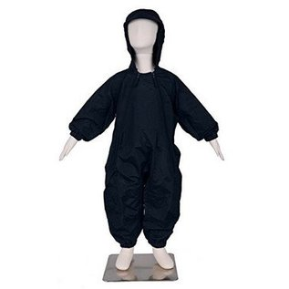 Black Splashy Breathable Nylon Rainsuit