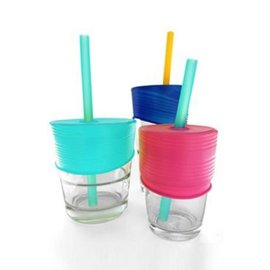 Silikids Sea/Berry/Cobalt Universal Straw Top 3pk