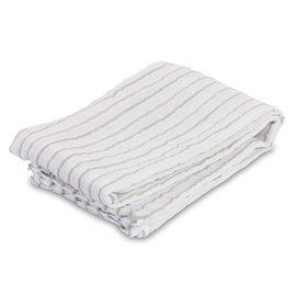 Lulujo Grey Messy Stripe Muslin Swaddle