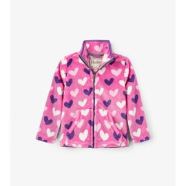 Hatley Multi Hearts Fuzzy Fleece Zip Up