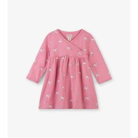 Hatley Graphic Unicorns Baby Cross Over Dress