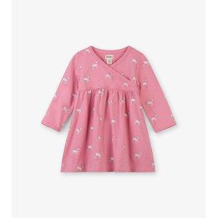 Hatley Graphic Unicorns Baby Cross Over Dress