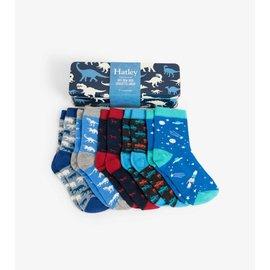 Hatley Dino Silhouette Crew Socks Gift Tin