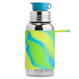 Pura Kiki Aqua Swirl Stainless Pura 550ml Sport Bottle for Kids