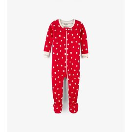 Hatley Metallic Dots Organic Cotton Holiday Coverall