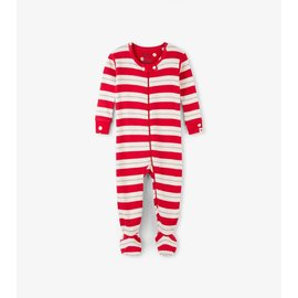 Hatley Metallic Stripe Organic Cotton Footed Coverall