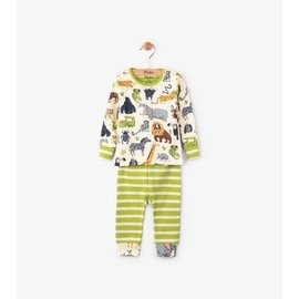 Hatley Safari Adventure Long Sleeve Mini Pajama Set