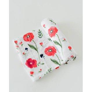 Little Unicorn Summer Poppy Cotton Muslin Swaddle