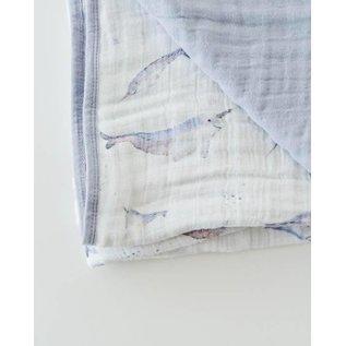 Little Unicorn Narwhal Cotton Muslin Quilt