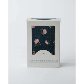 Little Unicorn Midnight Rose Cotton Muslin Crib Sheet