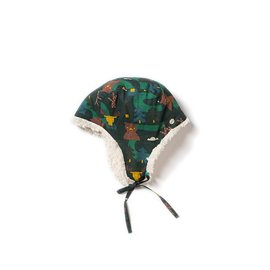 Little Green Radicals Nordic Forest Organic Sherpa Hat