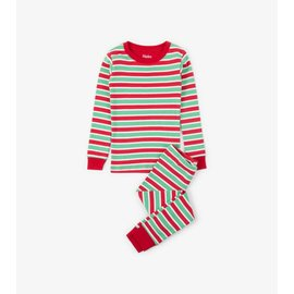 Hatley Holiday Stripe Organic Cotton PJ Set