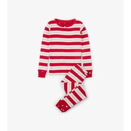 Hatley Metallic Stripe Organic Cotton Holiday PJ Set