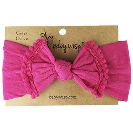Dark Pink Pom Pom Bow