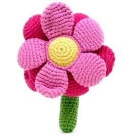 Pebble Pink Flower Rattle