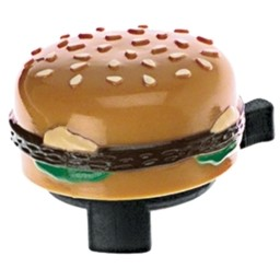 Dimension Dimension Burger Bell with Sesame Bun and Mustard Ooze