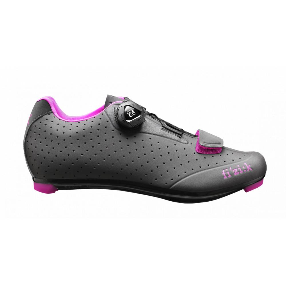 Fizik Fizik Women's R5B Donna BOA Anthracite with Fuschia Trim - Size 39 Road