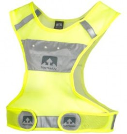 Nathan Reflective LightStreak LED Vest: SM/MD, Neon Yellow