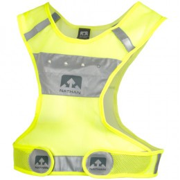 Nathan Nathan Reflective LightStreak LED Vest: LG/XL, Neon Yellow