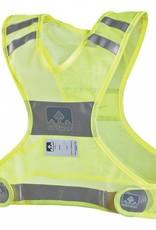 Nathan Nathan Reflective Streak Vest: LG/XL, Neon Yellow