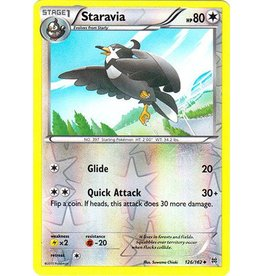 Pokemon Staravia - 126/162 - Uncommon Reverse Holo