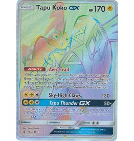 Pokemon Tapu Koko GX - 153/145 - Secret Rare Hyper Rare
