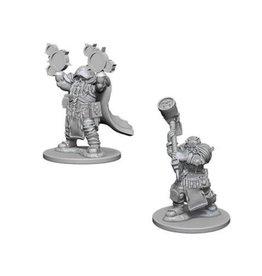 WizK!ds D&D Miniatures (2) Dwarf Cleric Male