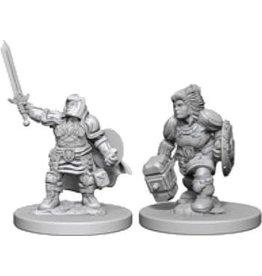 WizK!ds D&D Miniatures (2) Dwarf Paladin Female