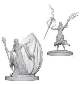 WizK!ds D&D Miniatures (2) Elf Wizard Female