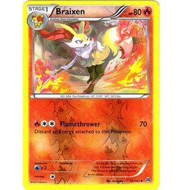 Pokemon Braixen - 26/162 - Uncommon - Reverse Holo