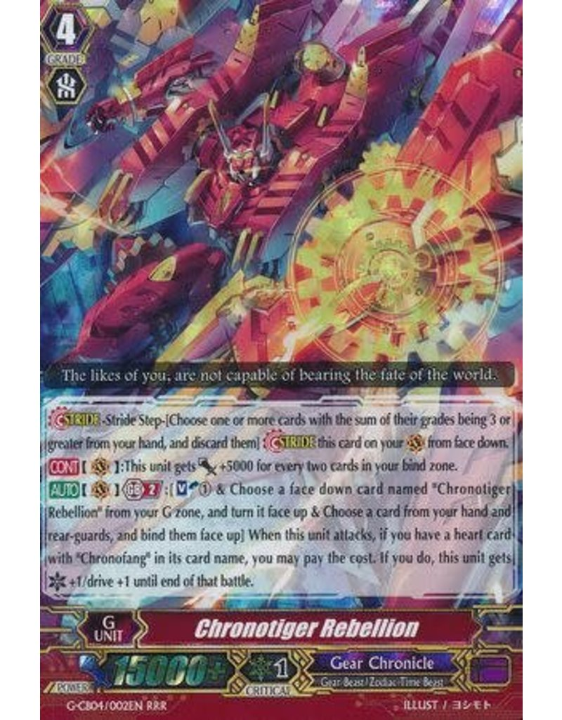 Chronotiger Rebellion - G-CB04/002 - RRR
