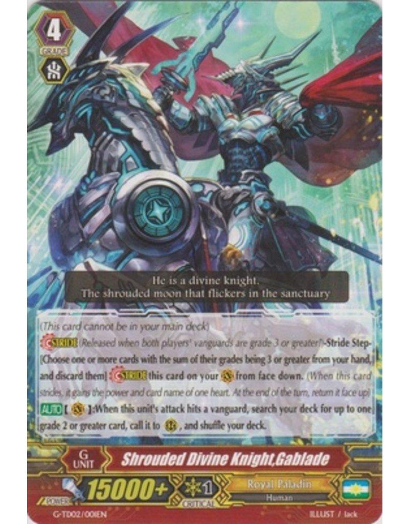Bushiroad Shrouded Divine Knight, Gablade - G-TD02 - RRR