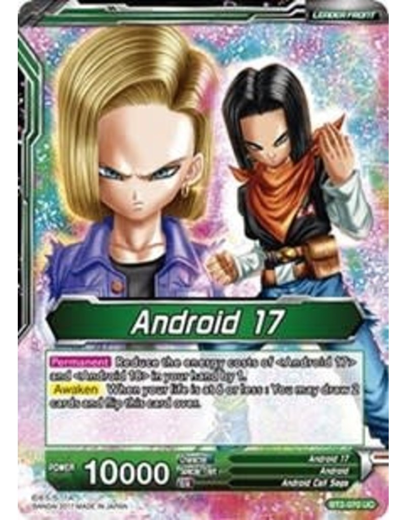 Bandai Namco Android 17 | Diabolical Duo Androids 17 & 18 - BT2-070 - Uncommon