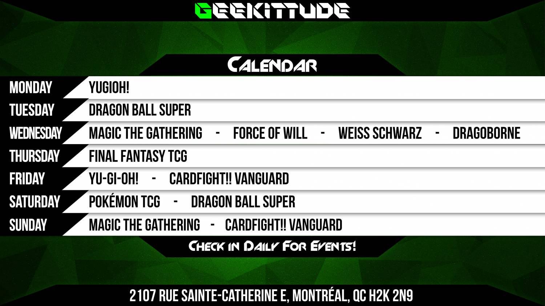 New Event Calendar Starting March 1st