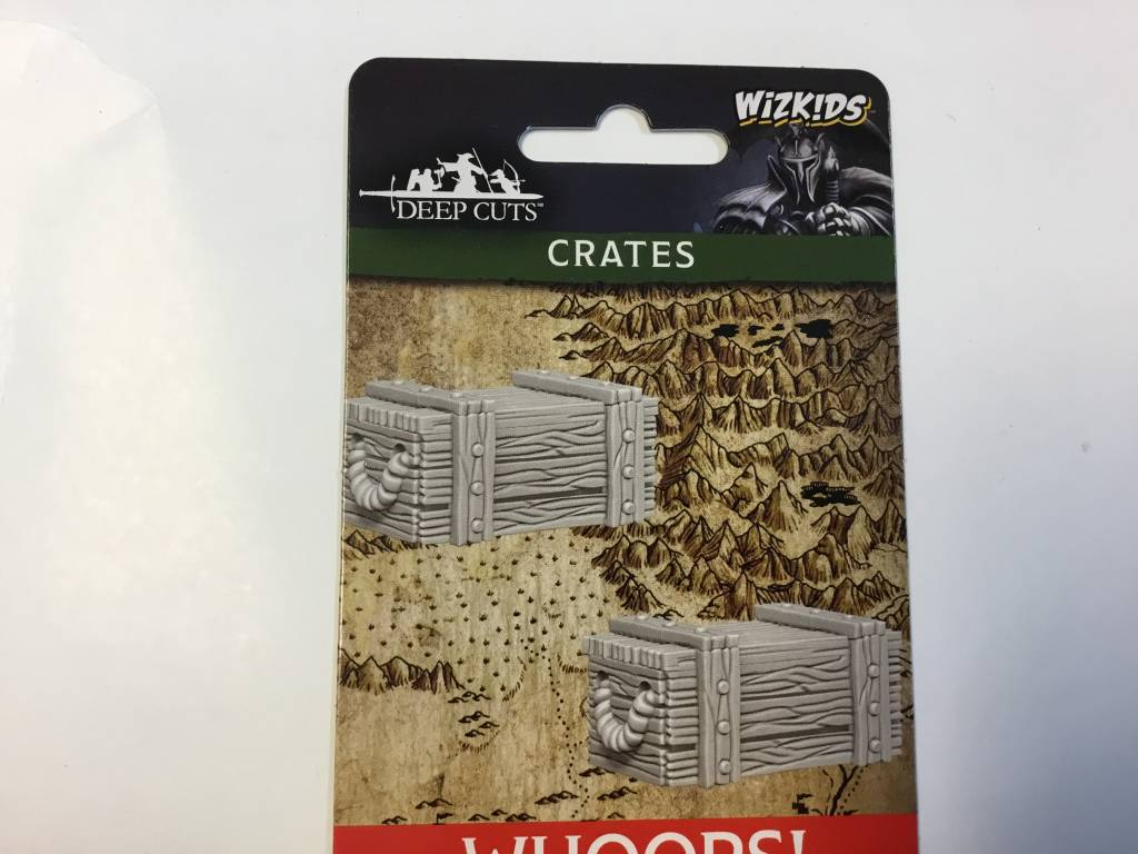Wizkids D&D Miniatures Deep Cuts: Crates (3)