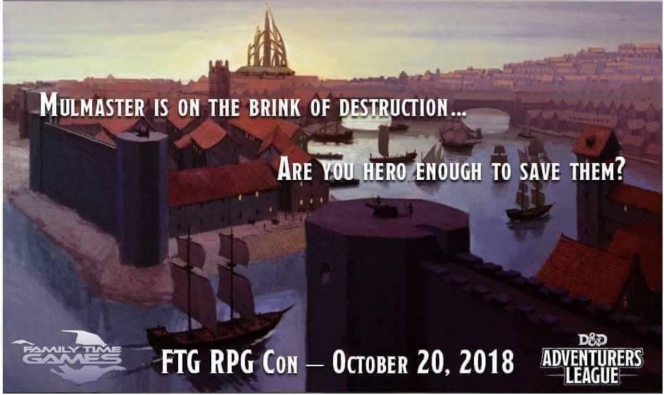 FTG FTG RPG CON - Mayhem in Mulmaster