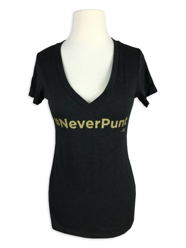 #NeverPunt Team Gleason Tee